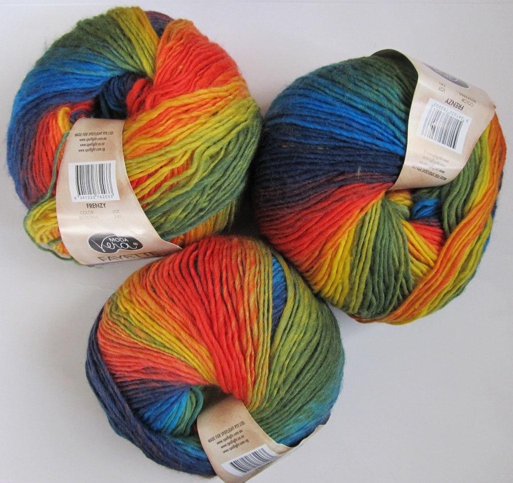 Moda Vera Fayette Knitting Yarn Wool Polyamide Blend Frenzy